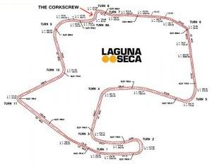 The world-famous Laguna Seca raceway