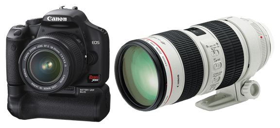 Canon Rebel Xsi and 70mm - 200mm f/2.8 IS II zoom