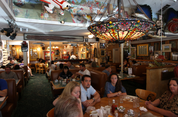 The wonderful food and funky decor of Buck's Restaurant of Woodside