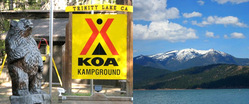 KOA at Trinity Lakes, California