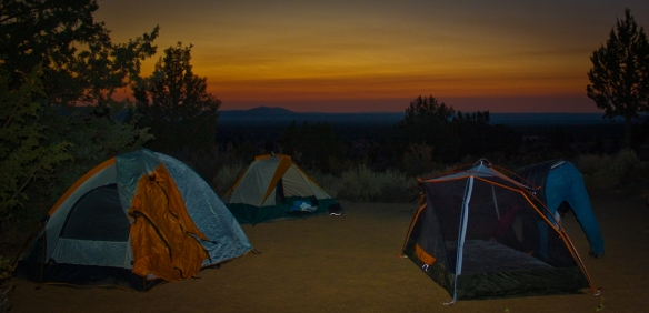 Our campsite at Lava Beds National Monument