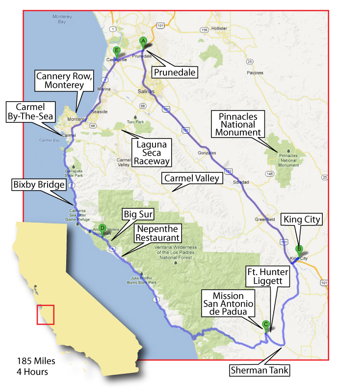 Ride Map: The Great Big Sur Loop | Me and MyConnie