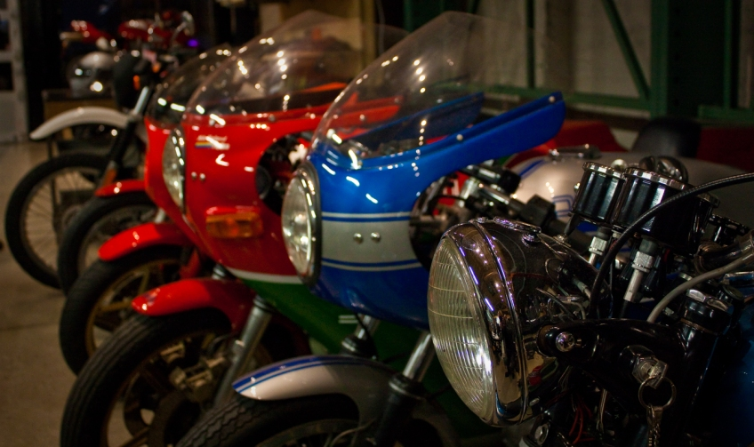 Some of the bikes at Piston and Chain SF